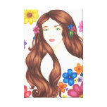 """Flower Girl Wrapped Canvas (16"""" x 24"""") Stretched Canvas Prints"""