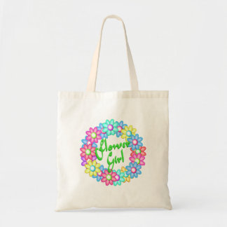 Flower Girl wreath Tote Bag