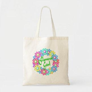 Flower Girl wreath Budget Tote Bag