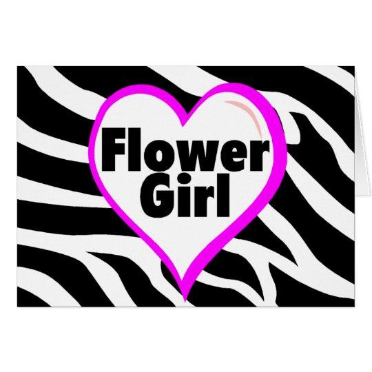 Flower Girl (Zebra Print) Card
