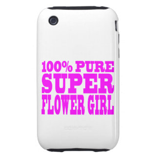 Flower Girls : Pink Super Flower Girl iPhone 3 Tough Cover