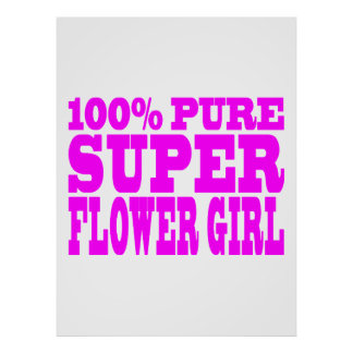 Flower Girls : Pink Super Flower Girl Poster