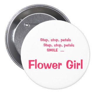 Flower Girls Thoughts ID Button