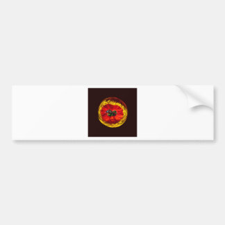 Flower globe in red and yellow bumper sticker