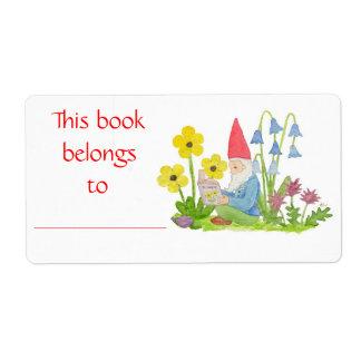 Flower Gnome book label