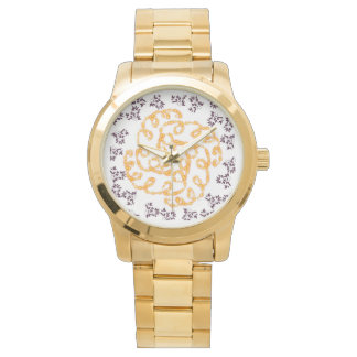 Flower Gold Watch