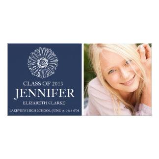 Flower Graduation Photo Card