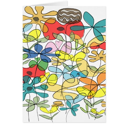 Flower greetings card - collage