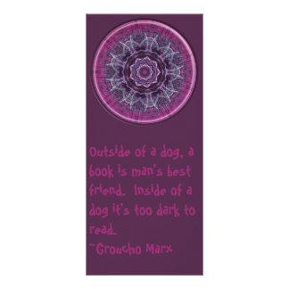 Flower/Groucho Marx bookmark Rack Card Template
