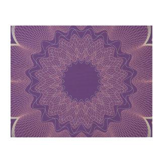 Flower Guilloche pattern magenta1 Wood Canvas