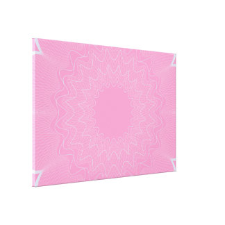 Flower Guilloche pattern pink1 Stretched Canvas Print