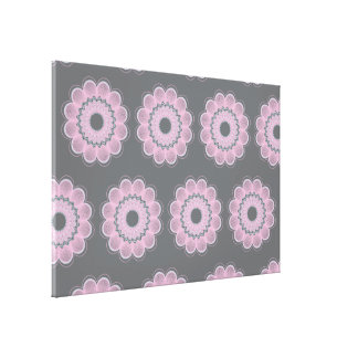 Flower Guilloche patterns grey1 Stretched Canvas Prints