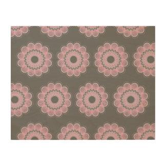 Flower Guilloche patterns grey1 Wood Prints