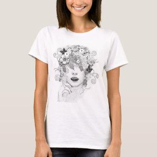 Flower hair Lady Glamour shirt