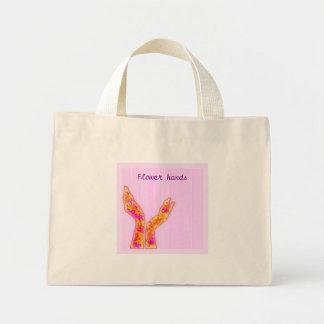 flower hands bag