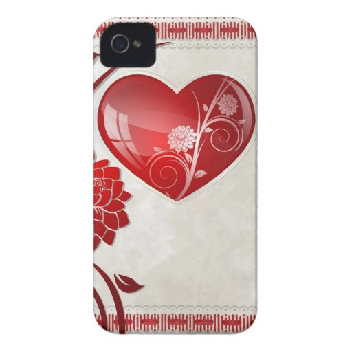 Flower Heart Case-Mate iPhone 4 Case