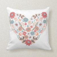Flower Heart Cushion Pillows