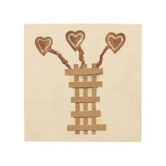 Flower Heart No Background Wooden Canvas Wood Print