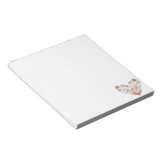 Flower Heart Notepad