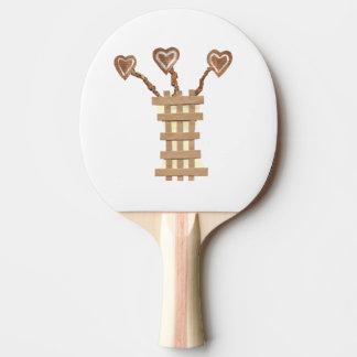 Flower Heart Ping Pong Bat Ping Pong Paddle