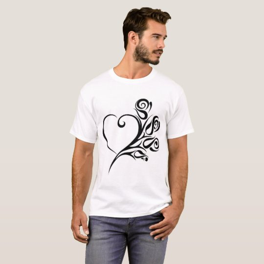 FLOWER HEART T SHIRT