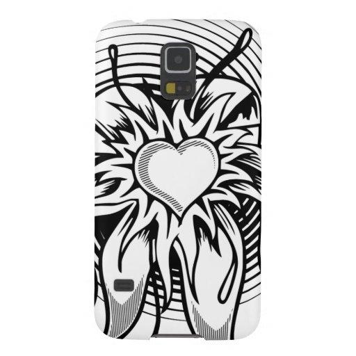 Flower Heart Tattoo Design with a spiral Samsung Galaxy Nexus Cover