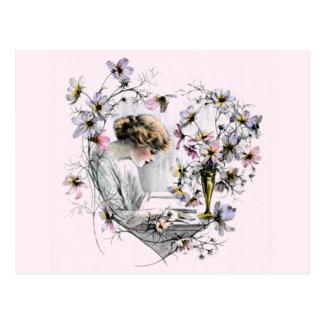 Flower Heart Valentine Postcard