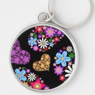Flower & Hearts Keychain
