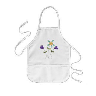 Flower Hearts Kids Apron
