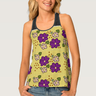 FLOWER HEARTS TANK TOP, i Art and Designs