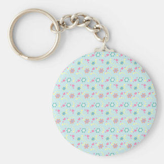 Flower Hearts + your name Key Ring