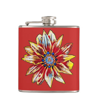 flower hip flask