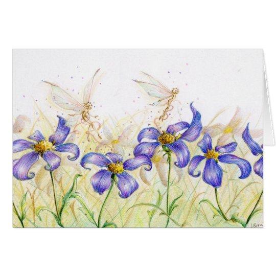 Flower Hopping Card