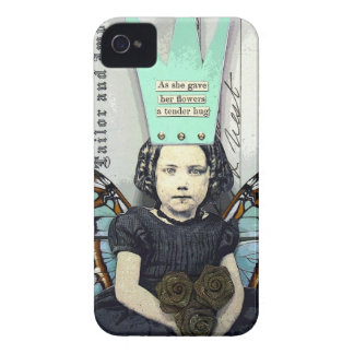 Flower Hug iPhone 4S Glossy Hard Case iPhone 4 Cover