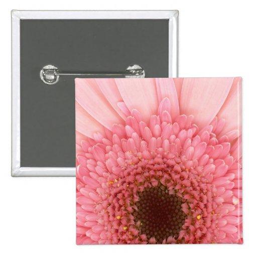 Flower - I LOVE Pink Pinback Button