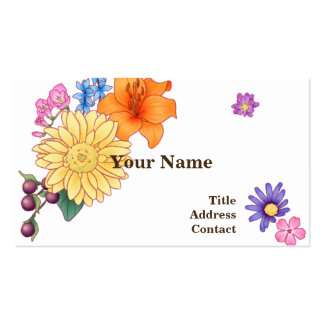 < Flower illustration >  Illustration of Flowers Pack Of Standard Business Cards