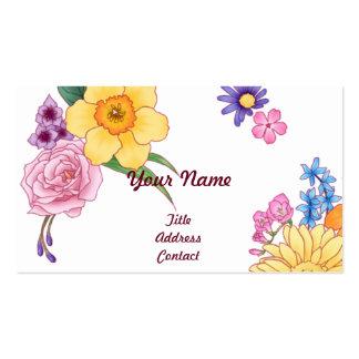 < Flower illustration >  Illustration of Flowers Pack Of Standard Business Cards