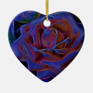 Flower Image manipulated for artistic effect (2).j Ceramic Heart Decoration
