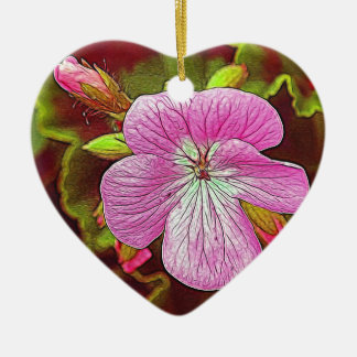 Flower Image manipulated for artistic effect (3).J Ceramic Heart Decoration