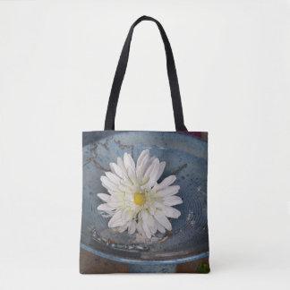 Flower in a Bird Bath Tote Bag