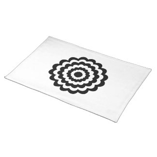 Flower in Black and White. Placemat