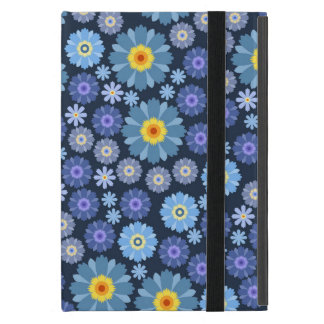 Flower in Blue Cover For iPad Mini