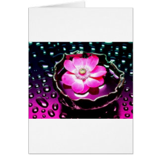 Flower in Cup of Water Greeting Card