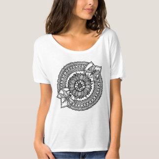 Flower In Mandala T-Shirt