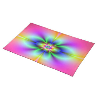 Flower in Neon American MoJo Placemats