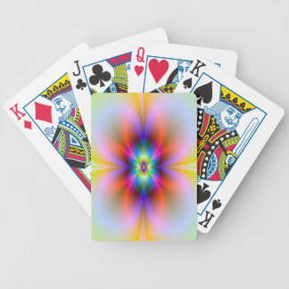 Flower in Neon Playing Cards