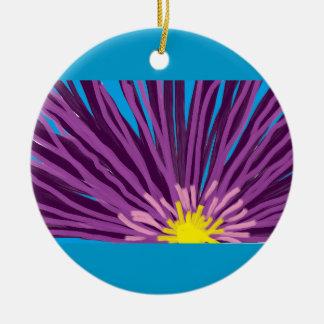 Flower in Oil Christmas Ornament
