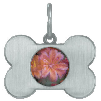 flower in spring pet name tag