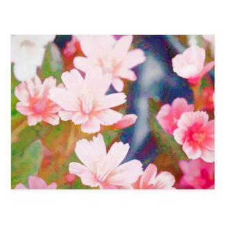 flower in spring postcard