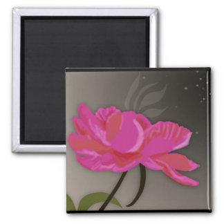 Flower in the Night Fridge Magnet